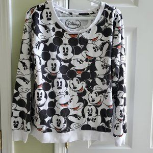 Disney Mickey Mouse Faces Collage Sweatshirt MD
